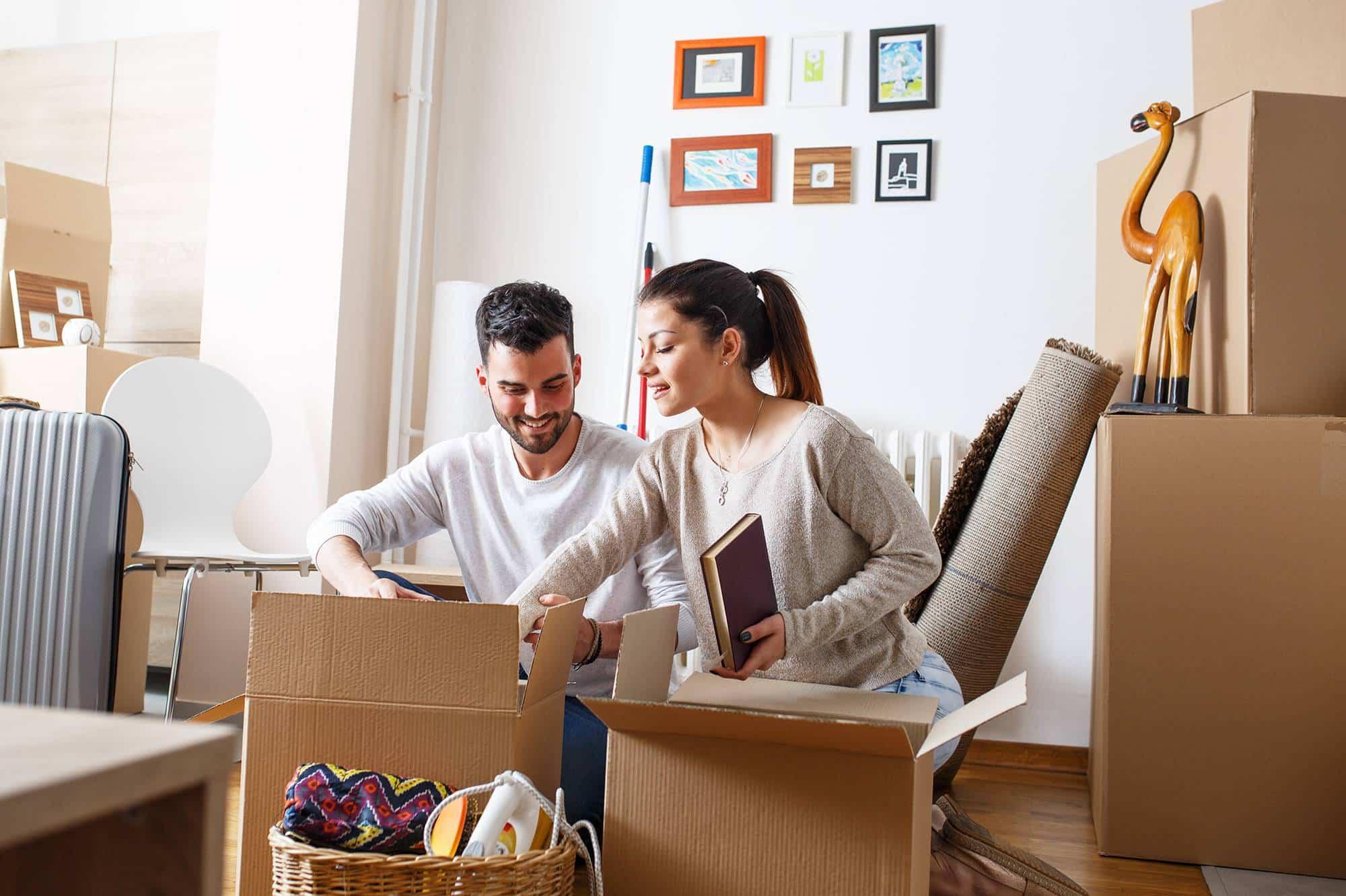 La fermeture des cartons de déménagement