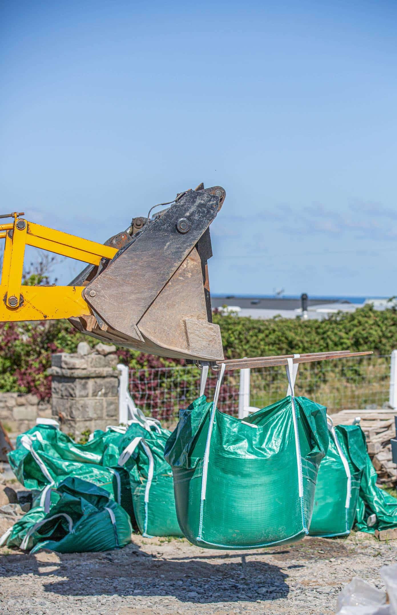 big bag chantier évacuation déchets BTP